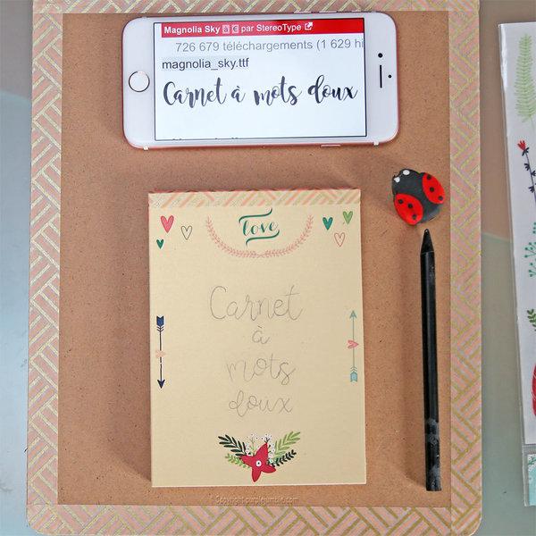 fabriquer un carnet mots doux oui are makers partageons notre cr ativit. Black Bedroom Furniture Sets. Home Design Ideas
